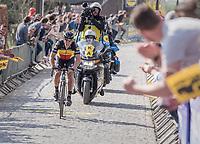 Philippe Gilbert (BEL/Quick Step floors) solo up the Taaienberg<br /> <br /> 101th Ronde Van Vlaanderen 2017 (1.UWT)<br /> 1day race: Antwerp › Oudenaarde - BEL (260km)