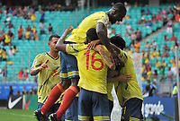 SALVADOR – BRASIL, 23-06-2019:Gustavo Cuellar de Colombia celebra después de anotar el primer gol de su equipo durante partido de la Copa América Brasil 2019, grupo B, entre Colombia y Paraguay jugado en el Arena Fonte Nova de Salvador, Brasil. / Gustavo Cuellar of Colombia celebrates after scoring the first goal of his team during the Copa America Brazil 2019 group B match between Colombia and Paraguay played at Fonte Nova Arena in Salvador, Brazil. Photos: VizzorImage / Julian Medina / Cont /