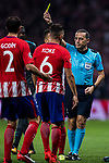 Referee Cuneyt Cakir in action during the UEFA Champions League 2017-18 match between Atletico de Madrid and Chelsea FC at the Wanda Metropolitano on 27 September 2017, in Madrid, Spain. Photo by Diego Gonzalez / Power Sport Images