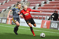 Alex Greenwood (Manchester United Women) during the English Womens Championship match between Manchester United Women and Leicester City Women at Leigh Sports Village, Leigh, England on 10 March 2019. Photo by James Gill / PRiME Media Images.