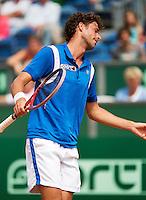 14-07-13, Netherlands, Scheveningen,  Mets, Tennis, Sport1 Open, day seven final, Robin Haase (NED) is frustrated<br /> <br /> <br /> Photo: Henk Koster