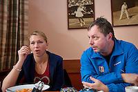 18-12-12, Praag, Michaella Krajicek with her coach Jaroslav Jandus