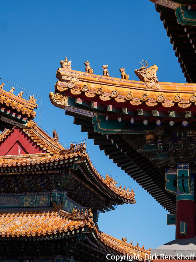 Chinesischer hisrorischer kaiserlicher Tempel Lidaidiwangmiao, in Peking, China, Asien<br /> Chinese Historical Imperial Temple-Lidaidiwangmiao, Beijing, China, Asia