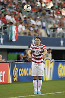 Michael Parkhurst #15 of the USMNT in action against Honduras on July 24, 2013 at Dallas Cowboys Stadium in Arlington, TX. USMNT won 3-1.