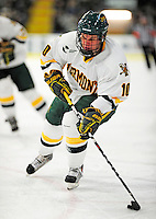 6 December 2009: University of Vermont Catamount forward Colin Vock, a Senior from Detroit, MI, in action against the University of New Hampshire Wildcats at Gutterson Fieldhouse in Burlington, Vermont. The Wildcats defeated the Catamounts 5-2 in the Hockey East matchup. Mandatory Credit: Ed Wolfstein Photo