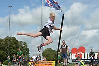 FIERLJEPPEN: IJLST: 07-08-2021, FK Jeugd, Reinder Haanstra fan It Heidenskip (10,36 meter), ©foto Martin de Jong