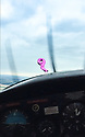 """15/08/18<br /> <br /> ***Video:   https://youtu.be/XDNa_lycFgw ****<br /> <br /> A fourteen-year-old girl on her first ever flying lesson had the fright of her life when the plane hit a gas-filled balloon yesterday. <br /> Amy Boulton screamed as the Cessna 152 collided with a bright pink balloon shaped as the number 2 as it flew at 1000 ft above a Nottinghamshire airfield at 100mph.<br /> <br /> Instructor Will Flanagan said: """"This was Amy's first flight. She had been at the controls but I was flying in to land at Gamston when I suddenly saw it - I thought it was a bird at first. It could've been a big problem if it had wrapped around the propeller. But thankfully it didn't cause any damage and we landed safely. It certainly gave Amy a shock.""""<br />  <br /> All Rights Reserved: F Stop Press Ltd. +44(0)1335 344240  www.fstoppress.com www.rkpphotography.co.uk"""