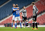St Mirren v St Johnstone…09.05.21  Scottish Cup Semi-Final Hampden Park <br />Callum Booth and David Wotherspoon celebrate at full time<br />Picture by Graeme Hart.<br />Copyright Perthshire Picture Agency<br />Tel: 01738 623350  Mobile: 07990 594431