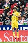 David Simon of UD Las Palmas heads the ball during the La Liga 2017-18 match between Atletico de Madrid and UD Las Palmas at Wanda Metropolitano on January 28 2018 in Madrid, Spain. Photo by Diego Souto / Power Sport Images