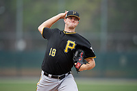 Pittsburgh Pirates pitcher Tyler Eppler (18) during a Minor League Spring Training Intrasquad game on March 31, 2018 at Pirate City in Bradenton, Florida.  (Mike Janes/Four Seam Images)