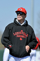 Louisville Cardinals manager Dan McDonnell during a game against St.John's Red Storm at Jack Kaiser Stadium in Queens, New York;  April 17, 2011.  St. John's defeated Louisville 7-2.  Photo By Tomasso DeRosa/Four Seam Images