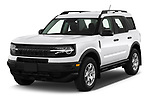 2021 Ford Bronco-Sport Base 5 Door SUV Angular Front automotive stock photos of front three quarter view