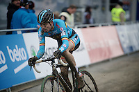 Wout Van Aert (BEL) with 1 lap to go<br /> <br /> Elite Men's race<br /> <br /> 2015 UCI World Championships Cyclocross <br /> Tabor, Czech Republic
