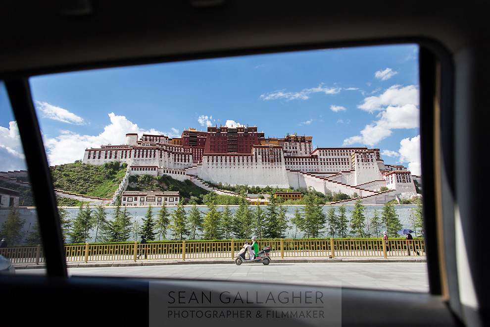 The Potala Palace in central Lhasa.