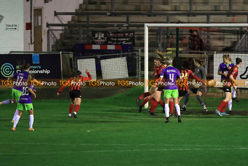 Emma Bissell of Bristol City scores Bristols second during Lewes Women vs Bristol City Women, FA Women's Continental League Cup Football at The Dripping Pan on 18th November 2020