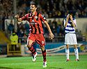 STEVEN THOMPSON CELEBRATES AFTER HE HEADS HOME ST MIRREN'S FOURTH