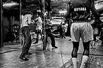 Gleason's Gym in Brooklyn, New York. <br />Photograph by Thierry Gourjon-Bieltvedt 1996