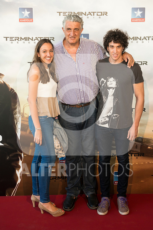 Basketball player Fernando Romay attends to the premiere of Terminator Genesis at Kinepolis Cinema in Madrid, Spain. July 08, 2015.<br />  (ALTERPHOTOS/BorjaB.Hojas)