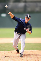 June 22nd 2008:  Pitcher P.J. Zocchi of the Mahoning Valley Scrappers, Class-A affiliate of the Cleveland Indians, during a game at Dwyer Stadium in Batavia, NY.  Photo by:  Mike Janes/Four Seam Images