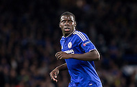 Kurt Zouma of Chelsea during the UEFA Champions League match between Chelsea and Maccabi Tel Aviv at Stamford Bridge, London, England on 16 September 2015. Photo by Andy Rowland.