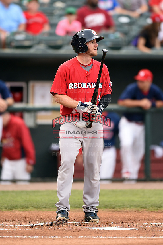 Oklahoma City RedHawks outfielder Robbie Grossman (4) during a game against the Memphis Redbirds on May 23, 2014 at AutoZone Park in Memphis, Tennessee.  Oklahoma City defeated Memphis 12-10.  (Mike Janes/Four Seam Images)