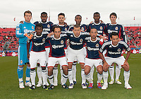 14 April 2012: The starting eleven of Chivas USA  during a game between Chivas USA and Toronto FC at BMO Field in Toronto..Chivas USA won 1-0..