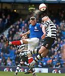 Lee McCulloch heads the ball over Raymond Buchanan