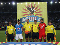 BOGOTA -COLOMBIA, -11-03-2017. Wilmar Roldan central referee. Action game between Millonarios and America de Cali during match for the date 9 of the Aguila League I 2017 played at Nemesio Camacho El Campin stadium . Photo:VizzorImage / Felipe Caicedo  / Staff