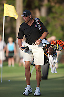 PONTE VEDRA BEACH, FL - MAY 6: Caddie Steve Williams on the 12th green during the  practice round on Wednesday, May 6, 2009 for the Players Championship, beginning on Thursday, at TPC Sawgrass in Ponte Vedra Beach, Florida.