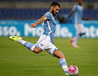 Calcio, Serie A: Lazio vs Udinese. Roma, stadio Olimpico, 13 settembre 2015.<br /> Lazio's Antonio Candreva in action during the Italian Serie A football match between Lazio and Udinese at Rome's Olympic stadium, 13 September 2015.<br /> UPDATE IMAGES PRESS/Isabella Bonotto