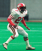 Richie Hall Calgary Stampeders 1984. Copyright photograph Scott Grant