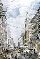 New York:  Broadway  (Western Union).  Historical scene.
