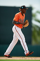 Baltimore Orioles third baseman Jean Carlos Encarnacion (82) during a Florida Instructional League game against the Pittsburgh Pirates on September 22, 2018 at Ed Smith Stadium in Sarasota, Florida.  (Mike Janes/Four Seam Images)