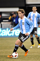 Lucas Biglia (16) of Argentina. The United States (USA) and Argentina (ARG) played to a 1-1 tie during an international friendly at the New Meadowlands Stadium in East Rutherford, NJ, on March 26, 2011.