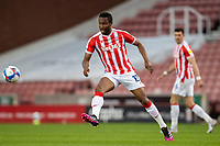 21st April 2021; Bet365 Stadium, Stoke, Staffordshire, England; English Football League Championship Football, Stoke City versus Coventry; John Obi Mikel of Stoke City clears the ball into midfield