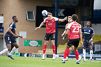 Chris Hussey, Cheltenham Town heads into space during Southend United vs Cheltenham Town, Sky Bet EFL League 2 Football at Roots Hall on 17th October 2020