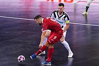 9th October 2020; Palau Blaugrana, Barcelona, Catalonia, Spain; UEFA Futsal Champions League Finals; Mrucia FS versus MFK Tyumen;   Rafa holds off a challenge