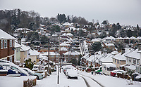 Snowfall in High Wycombe, Buckinghamshire on 1 February 2019. Photo by Andy Rowland.