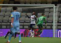 29th December 2020; Deepdale Stadium, Preston, Lancashire, England; English Football League Championship Football, Preston North End versus Coventry City; Daniel Johnson of Preston North End beats Coventry City goalkeeper Ben Wilson to give his side a 1-0 lead after 18 minute