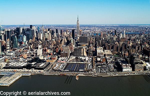 aerial photograph Pennsylvania Station, Manhattan, New York City