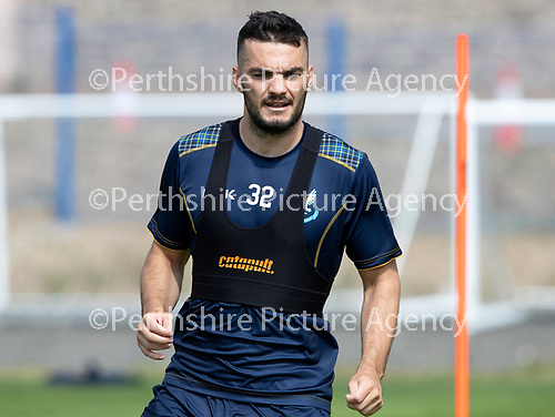 St Johnstone Training….23.07.18<br />Tony Watt pictured during training at McDiarmid Park<br />Picture by Graeme Hart.<br />Copyright Perthshire Picture Agency<br />Tel: 01738 623350  Mobile: 07990 594431