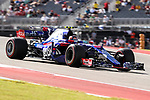 Red Bull Racing driver Daniil Kvyat (26) of Russia in action during the final practice before the Formula 1 United States Grand Prix race at the Circuit of the Americas race track in Austin,Texas.