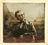 BNPS.co.uk (01202) 558833. <br /> Pic: ChiswickAuctions/BNPS<br /> <br /> Fascinating early experimental photos showing British children enjoying summertime in 1856 have come to light.<br /> <br /> The rare ambrotypes reveal an immaculately dressed boy in a suit and bowtie, while the girls wore elegant dresses and bonnets.<br /> <br /> They were produced using the wet plate collodion process which involves reflecting a positive photo on glass.<br /> <br /> This technique replaced the daguerreotype of the 1840s which was the first photographic process.