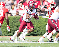 ATHENS, GA - OCTOBER 12: Rico Dowdle #5 of the South Carolina Gamecocks runs with the ball during a game between University of South Carolina Gamecocks and University of Georgia Bulldogs at Sanford Stadium on October 12, 2019 in Athens, Georgia.