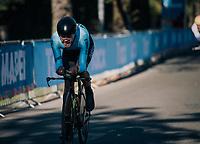 Rodrigo Contreras Pinzon (COL)<br /> <br /> MEN ELITE INDIVIDUAL TIME TRIAL<br /> Hall-Wattens to Innsbruck: 52.5 km<br /> <br /> UCI 2018 Road World Championships<br /> Innsbruck - Tirol / Austria