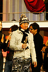 """Tokyo, Dec. 30, 2009 - Nakai Masahiro (SMAP) is photographed during the second day of rehearsals for 'Kohaku Uta Gassen,' or also more commonly known as 'Kohaku.' Produced by the Japanese public broadcaster, NHK, this annual music show airs on New Year's Eve and ends shortly before midnight, where everyone on air pauses to say """"Happy New Year."""" The 'Red and White Song Battle' separates the most popular music artists during each given year into teams of red and white: the red team consists of all female artists and the white team is all male artists. For an artist to perform on Kohaku, it is a great honor as only the most successful enka singers and J-Pop artist are strictly invited to perform by invitation only. Today, for a J-Pop artist or enka singer to perform on Kohaku, is most notably recognized to be a big highlight in a singer's career due to the show's large reach of audience during New Year's Eve."""