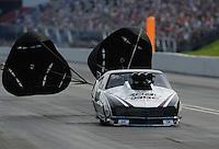Jun. 19, 2011; Bristol, TN, USA: NHRA pro mod driver Leah Pruett-LeDuc during eliminations at the Thunder Valley Nationals at Bristol Dragway. Mandatory Credit: Mark J. Rebilas-
