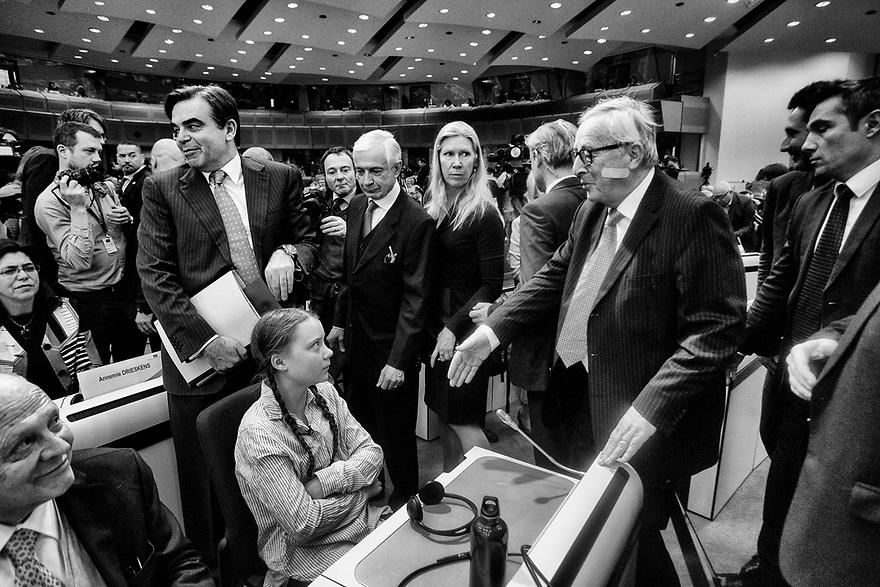 Brussels, Belgium Thursday, 21FEB19 .- La lider medioambiental Greta Thunberg en Bruselas  2019 © Delmi Álvarez