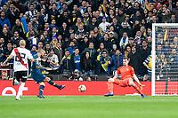 River Plate Javier Pinola and Franco Armani and Boca Juniors Frank Fabra during  Commebol Final Match between River Plate and Boca Juniors at Santiago Bernabeu Stadium in Madrid, Spain. December 09, 2018. (ALTERPHOTOS/Borja B.Hojas) /NortePhoto.com