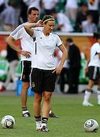 Wolfsburg , 100711 , FIFA / Frauen Weltmeisterschaft 2011 / Womens Worldcup 2011 , Viertelfinale ,  Deutschland (GER) - Japan (JPN) .Birgit Prinz (GER) .Foto:Karina Hessland .